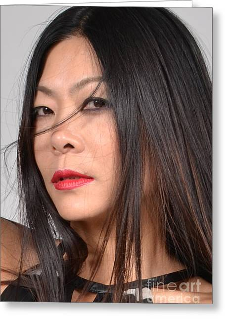 Oriental Woman Photos Greeting Cards - Wisp Asian Female Model Greeting Card by Heather Kirk