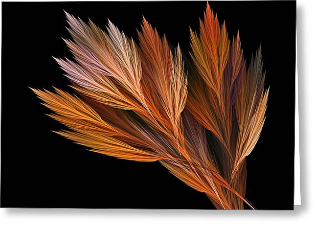 Reds Of Autumn Digital Art Greeting Cards - Wispy Tones of Autumn Greeting Card by Kaye Menner