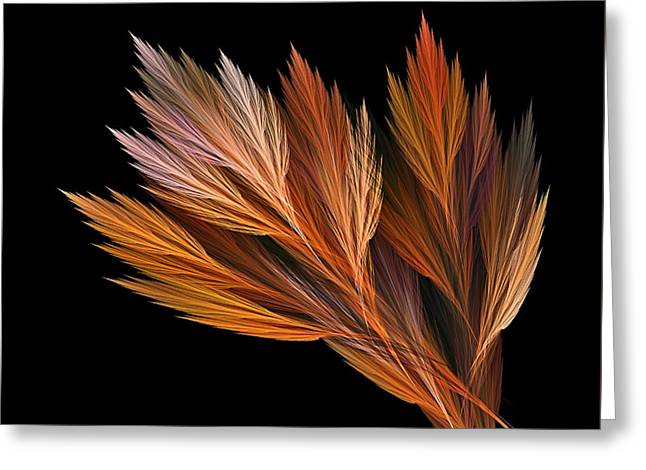 Reds Of Autumn Digital Greeting Cards - Wispy Tones of Autumn Greeting Card by Kaye Menner
