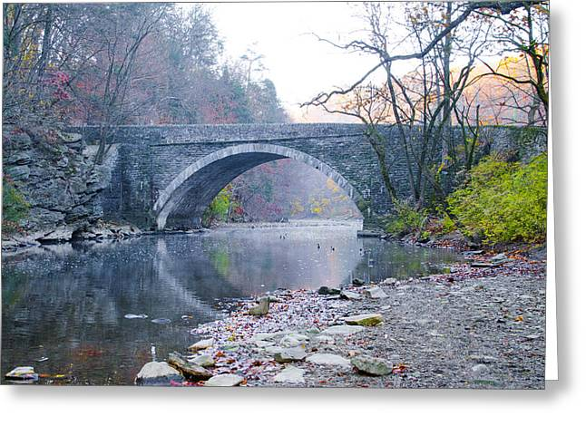 Wissahickon Creek Greeting Cards - Wissahickon Creek and Valley Green Bridge Greeting Card by Bill Cannon