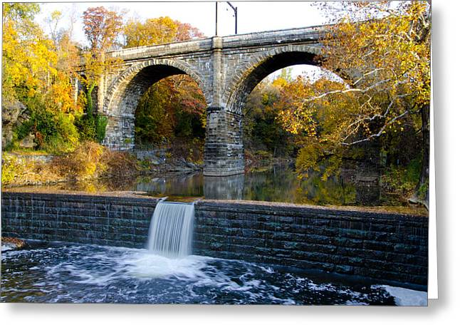 Wissahickon Greeting Cards - Wissahickon Creek at Ridge Avenue in Autumn Greeting Card by Bill Cannon