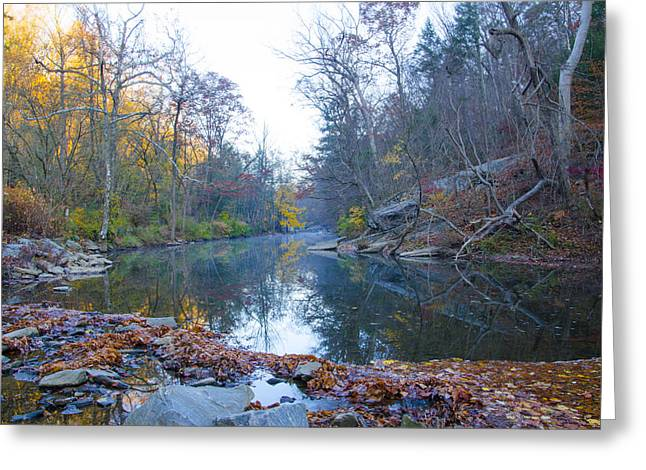 Wissahickon Greeting Cards - Wissahickon Creek - Fall in Philadelphia Greeting Card by Bill Cannon