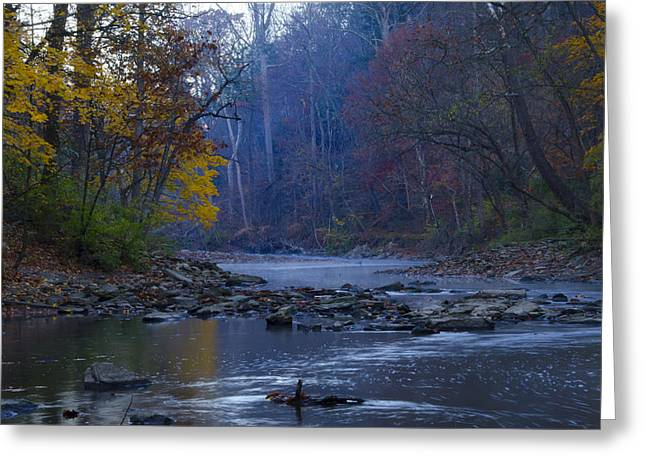 Wissahickon Greeting Cards - Wissahickon Creek in the Fall Greeting Card by Bill Cannon