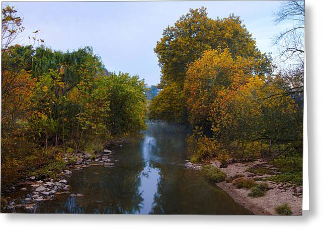 Wissahickon Creek Greeting Cards - Wissahickon Creek in Whitemarsh Greeting Card by Bill Cannon