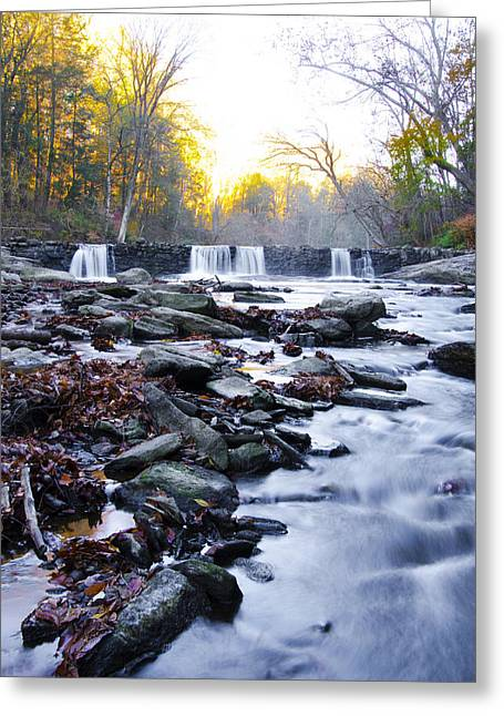 Wissahickon Greeting Cards - Wissahickon Waterfall near Valley Green Inn Greeting Card by Bill Cannon