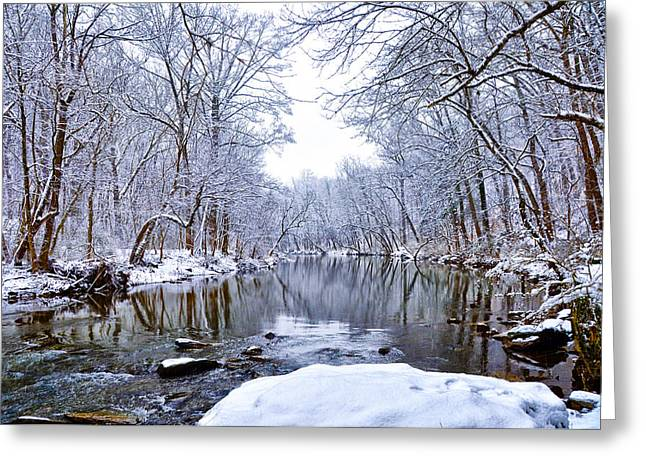 Wissahickon Greeting Cards - Wissahickon Winter Wonderland Greeting Card by Bill Cannon