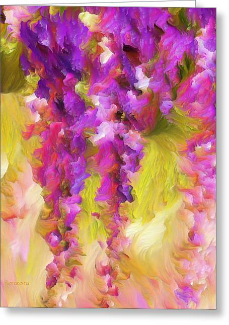 Conceptual Greeting Cards - Wisteria Dreams Greeting Card by Georgiana Romanovna