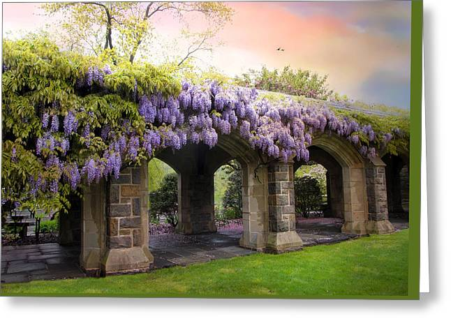 Wisteria In May Greeting Card by Jessica Jenney