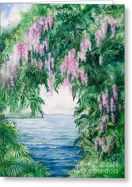 Michelle Greeting Cards - Wisteria Greeting Card by Michelle Wiarda
