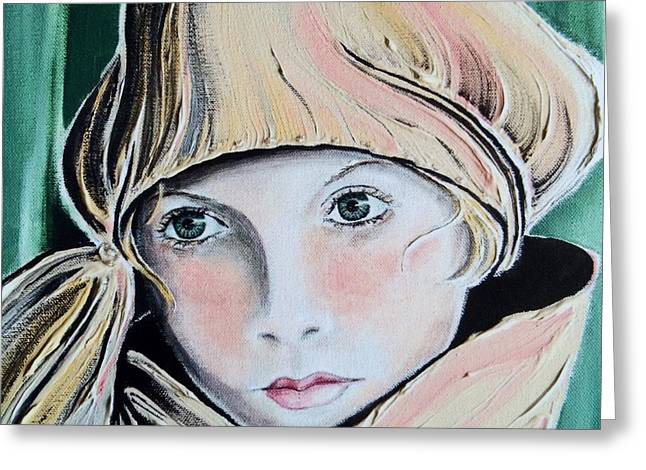 Pensive Greeting Cards - Wistful Greeting Card by Barbara Chase
