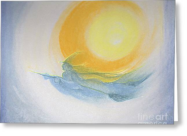 First Star Art Pastels Greeting Cards - Witch Moon Flight by jrr  Greeting Card by First Star Art