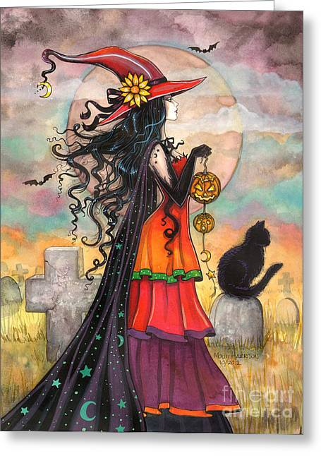Witch Way Greeting Card by Molly Harrison