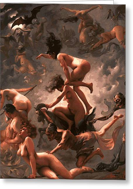 Torment Greeting Cards - Witches Sabbath Greeting Card by Daniel Hagerman