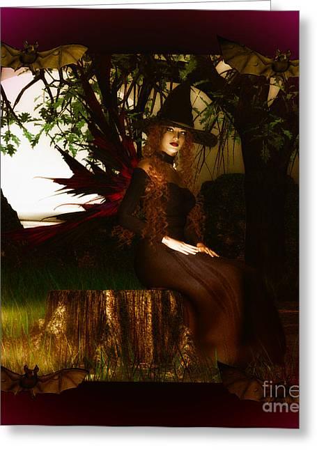 Eva Thomas Greeting Cards - Witchy Woman Greeting Card by Eva Thomas