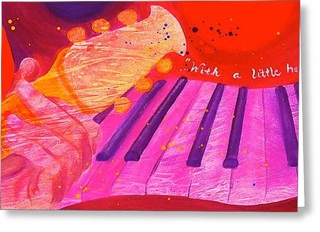 With a Little Help Greeting Card by Debi Starr