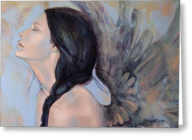 Live Art Greeting Cards - With Ancient Love Greeting Card by Dorina  Costras