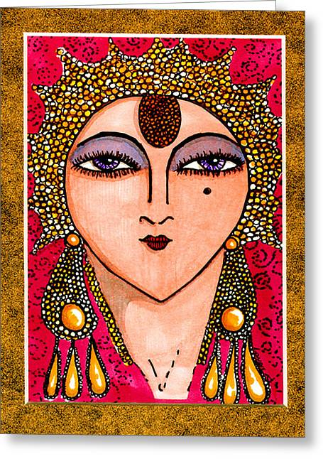 Erte Greeting Cards - With Apologies To Erte #1 Greeting Card by Londie Benson