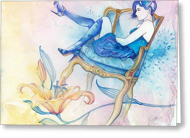 With Head In The Clouds Greeting Card by Anna Ewa Miarczynska