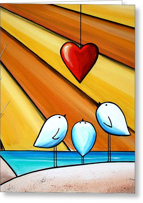 Cute Illustration Greeting Cards - With Love III Greeting Card by Cindy Thornton