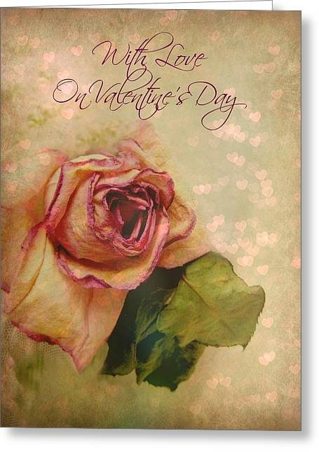 With Love On Valentine's Day Greeting Card by Shirley Sirois