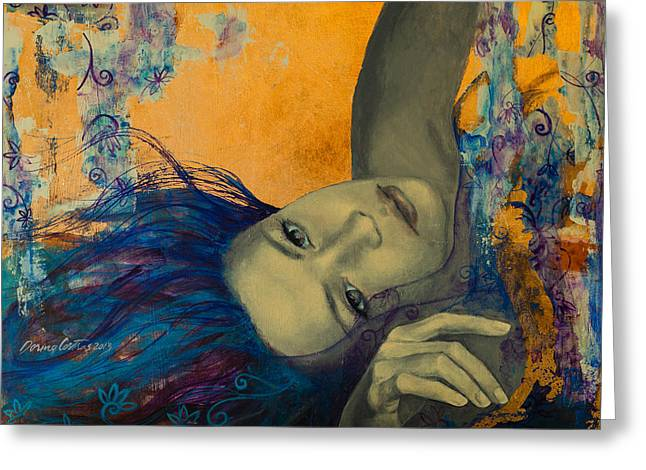Live Paintings Greeting Cards - Within Temptation Greeting Card by Dorina  Costras