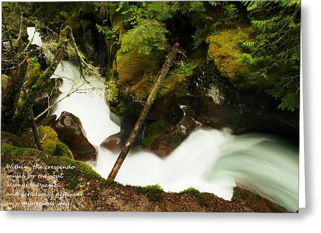 Moss Green Greeting Cards - Within The Crescendo Greeting Card by Jeff  Swan