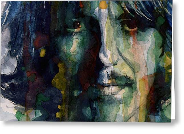 British Celebrities Greeting Cards - Within You Without You Greeting Card by Paul Lovering