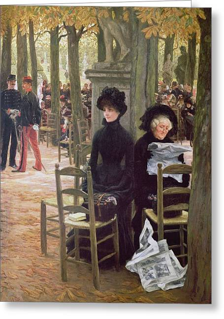 Chaperone Greeting Cards - Without A Dowry Sans Dot, 1883-5 Greeting Card by James Jacques Joseph Tissot