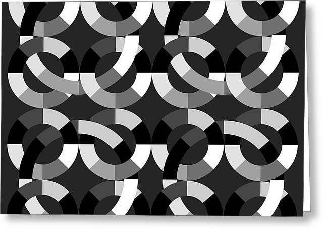 Surreal Geometric Greeting Cards - Without Colors  Greeting Card by Mark Ashkenazi