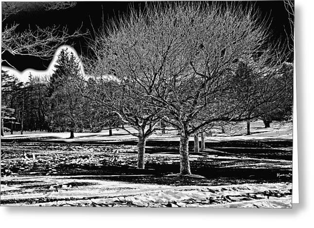 Snowy Day Photographs Greeting Cards - Without You Greeting Card by Madeline Ellis