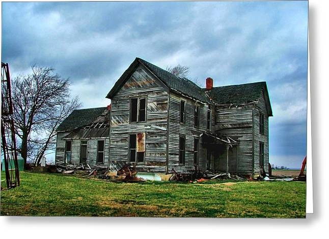 Abandoned Houses Greeting Cards - Withstanding Another Spring Storm  Greeting Card by Julie Dant