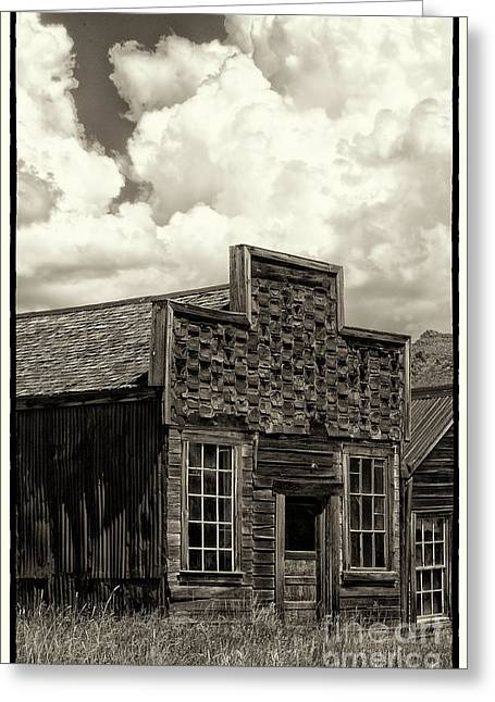 Cabin Window Greeting Cards - Withstanding The Years Greeting Card by Sandra Bronstein