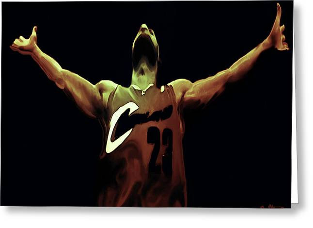 Miami Heat Digital Art Greeting Cards - Witness Greeting Card by Brian Reaves
