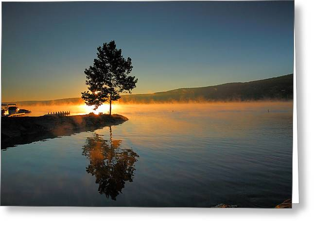 Keuka Greeting Cards - Witness To The Dawn II Greeting Card by Steven Ainsworth