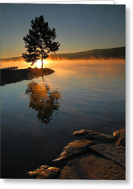 Keuka Greeting Cards - Witness to the Dawn III Greeting Card by Steven Ainsworth