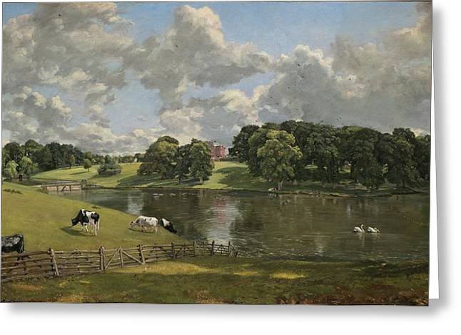 Constable Greeting Cards - Wivenhoe Park Essex Greeting Card by John Constable
