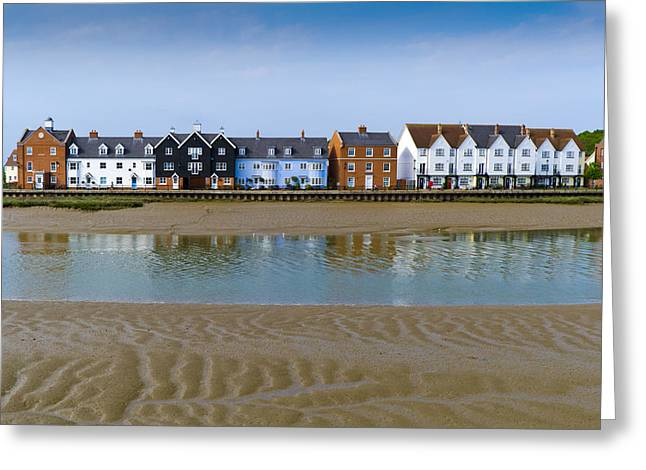 River View Greeting Cards - Wivenhoe waterfront Greeting Card by Gary Eason
