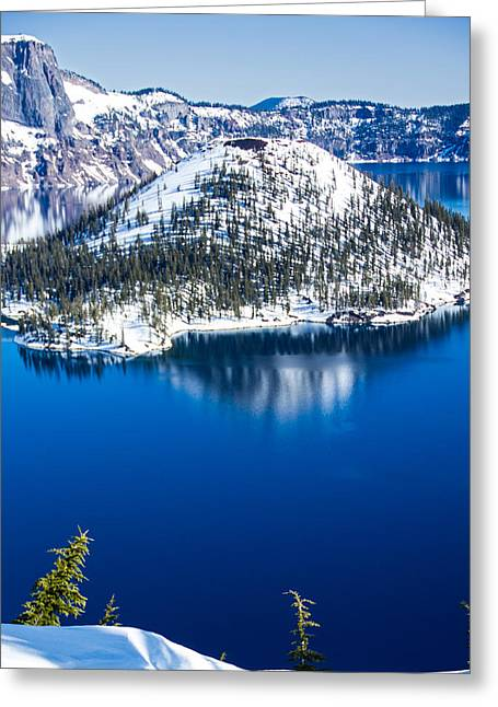 Craters Greeting Cards - Wizard Island Greeting Card by Kunal Mehra