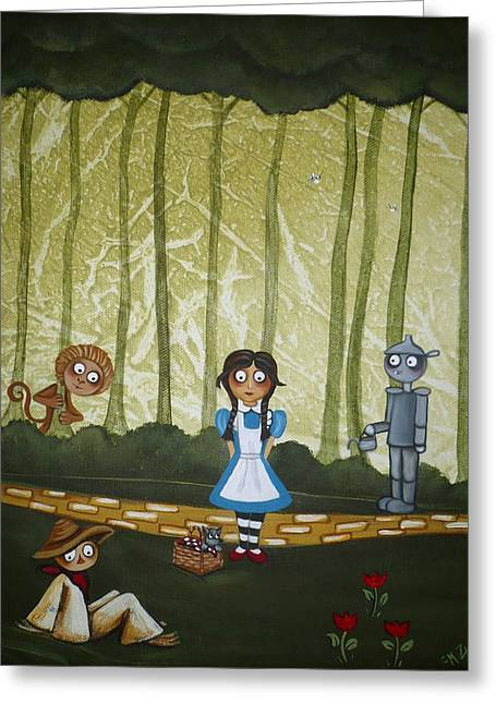 Toto Greeting Cards - Wizard of Oz - If We Walk Far Enough Greeting Card by Charlene Murray Zatloukal