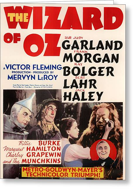 1939 Movies Greeting Cards - Wizard of Oz Vintage Movie Poster Greeting Card by Mountain Dreams