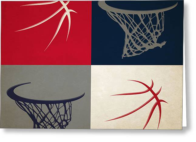 Dunk Greeting Cards - Wizards Ball And Hoop Greeting Card by Joe Hamilton