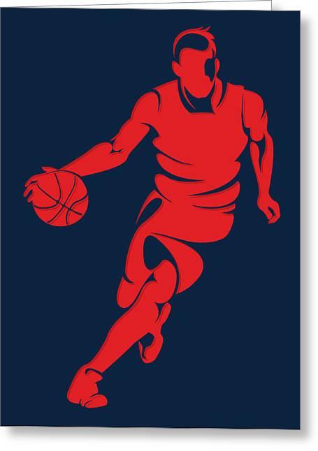 Washington Nationals Greeting Cards - Wizards Basketball Player3 Greeting Card by Joe Hamilton