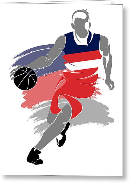 Washington Nationals Greeting Cards - Wizards Basketball Player5 Greeting Card by Joe Hamilton