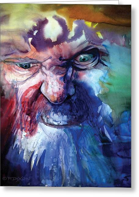 Emotions Greeting Cards - Wizzlewump Greeting Card by Frank Robert Dixon