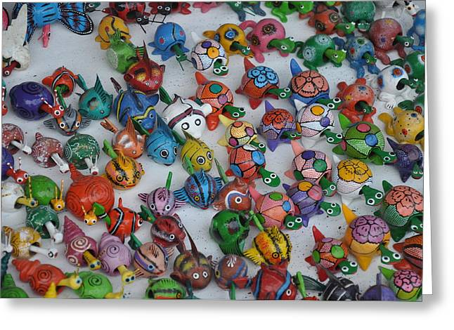 Toy Shop Greeting Cards - Wobble toys Greeting Card by Jaimie Beach