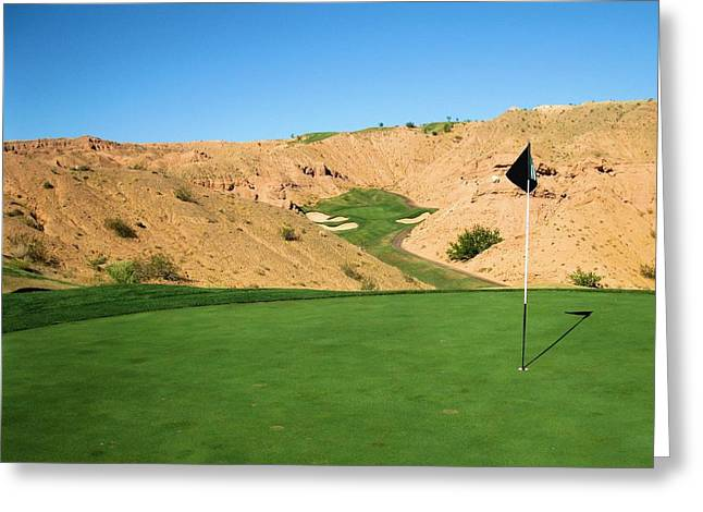 Hole 13 Greeting Cards - Wolf Creek Golf Club Greeting Card by Scott Carda