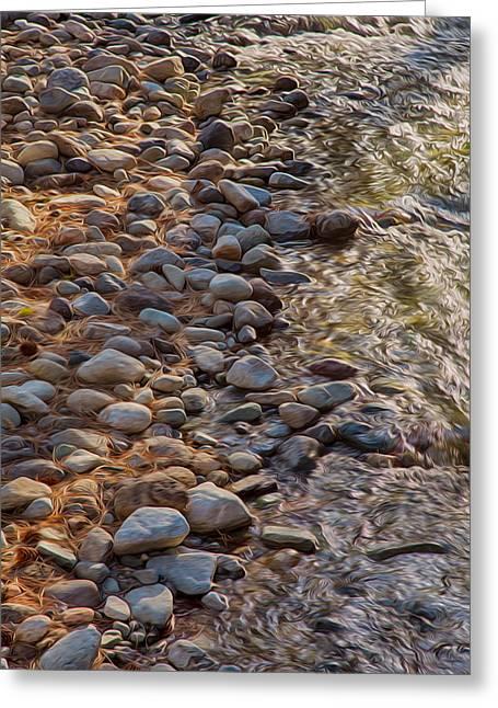 Wolf Creek Upstream Greeting Card by Omaste Witkowski