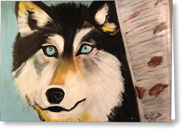 Hunters Pastels Greeting Cards - Wolf in Winter Greeting Card by Renee Michelle Wenker