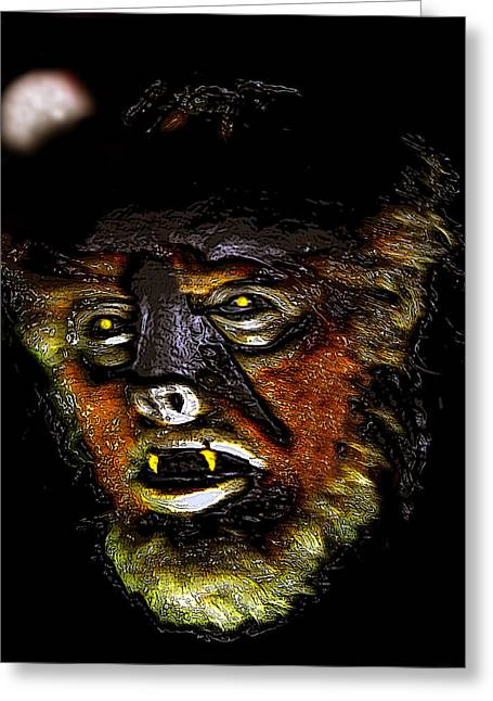 Movie Monsters Greeting Cards - Wolf Man original work one Greeting Card by David Lee Thompson