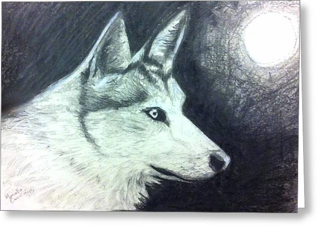 Buy Greeting Cards - Wolf Greeting Card by Marcello Cicchini
